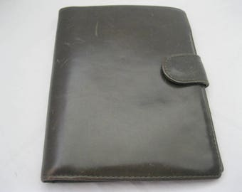 Green Leather Cole Haan Buckle Bi-Fold Wallet