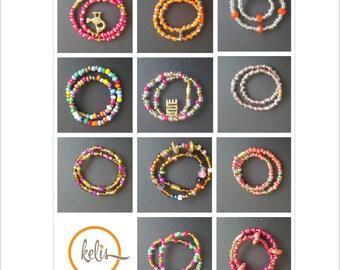 African Anklet/ Beaded Anklet / Colored Anklets/Adinkra symbol Anklets/Slim Anklets