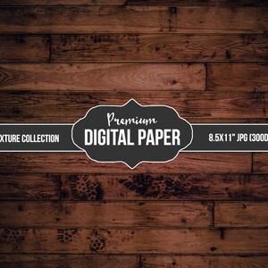 Digital Photography Backdrop Paper - Digital Background Brown Panel Rustic Wood - Wood Background Paper - Printable INSTANT DOWNLOAD