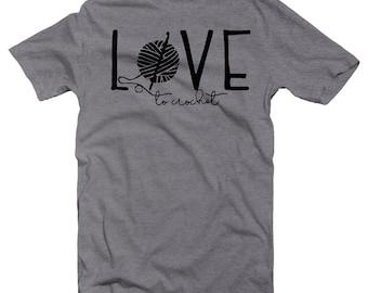 Crochet Lovers Gift, Crochet Lovers, Love to Crochet, Grandma Gift Ideas, Yarn Lovers Gift, Love Crochet, Crocheting Granny, Crocheter Shirt