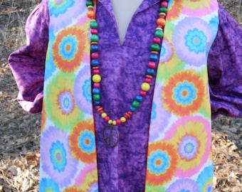 B099    Hippie Clothing  Far Out  Flower Child's Hippie Vest Size 8  Ready To Ship
