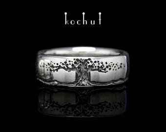Tree of life ring, silver tree ring, tree of life. Silver tree of life from Kochut silver collection.
