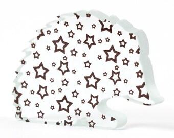 Stars Hedgehog Glass Sculpture