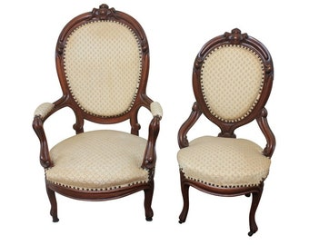 Victorian Lady's and Gentleman's Chairs