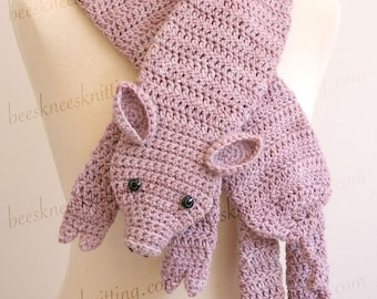 Digital PDF Crochet Pattern for This Little Piggy Scarf - DIY Fashion Tutorial - Instant Download - ENGLISH only