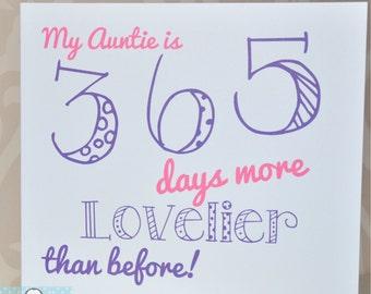 Aunt birthday cards etsy birthday card auntie m4hsunfo