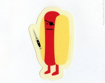 Diabolical Hot Dog sticker