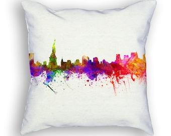 New York Throw Pillow, 18x18, Cushion Home Decor, Gift Idea, Pillow Case 02