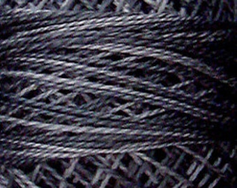 Valdani Perle Cotton Embroidery Thread  - Size 8, 73 yd, Single ball OLD COTTAGE GREY O126