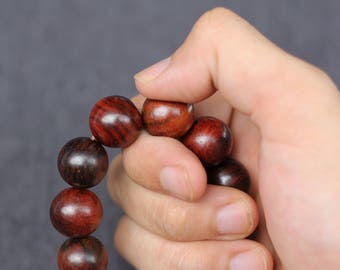 Wood Bracelet, Dalbergia Wood, Men Bracelet, Men Bracelet Beads, Yoga Men Bracelet, Men Mala Bracelet 12mm 14mm  16mm