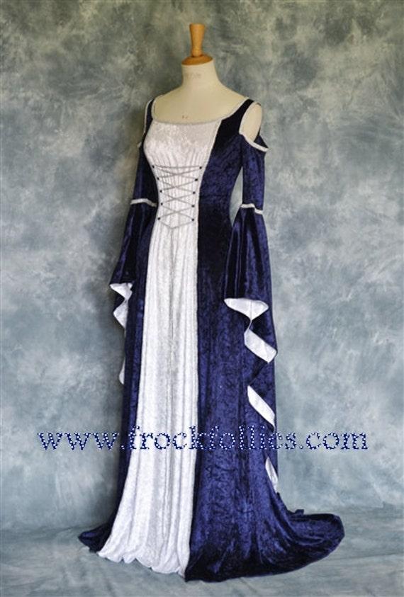 Medieval Gown Elvish Wedding Gown Handfasting Dress