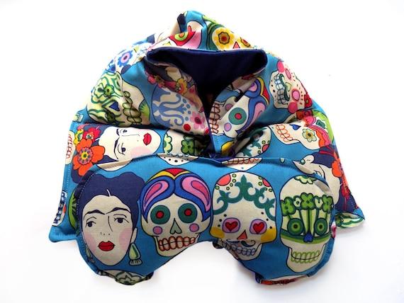 Rice Bag Eye Pillow Set, Microwaveable  Heating Pad,  Neck Wrap Eye Mask Spa Gift Set, Relaxation