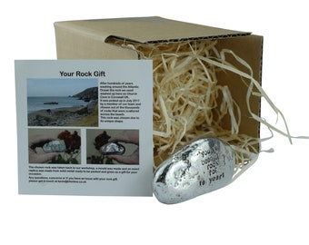 10th Anniversary Gifts For Men Ornament - You've Been My Rock For 10 Years - Solid Metal Heavy Rock