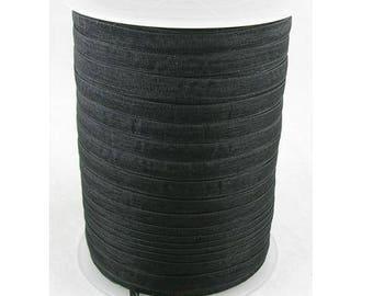 Black 6 mm wide organza Ribbon