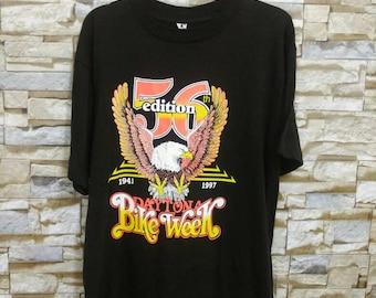 Vintage Daytona Beach Bike Week Shirt Motorcycle Harley Davidson T-Shirt L