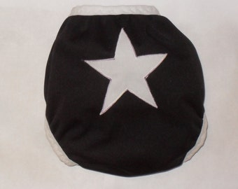 Star butt PUL diaper cover