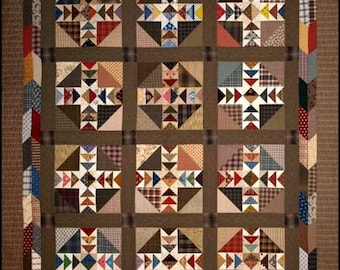 Quilt Pattern - Gathered in Time Quilt Pattern