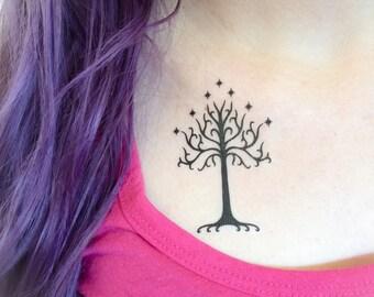 2 Tree of Gondor Temporary Tattoos- GeekTat