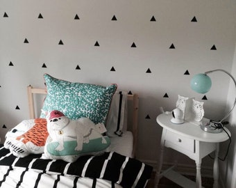 Triangle Wall Decals Geometric Wall Mural Decal Vinyl Wall Decal Sticker Art Kids Wall Stickers Baby Nursery Decor