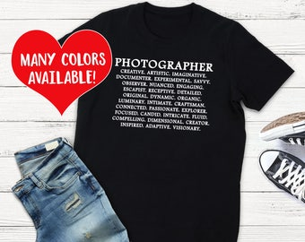 Photographer Shirt, Photographer T-Shirt, Photography Shirt, Photography T-Shirt, Photographer, Photog Shirt, Photographer Gift, Photography
