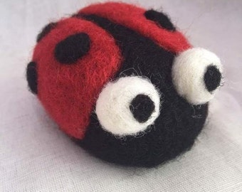 Needle felted Ladybird Tutorial PDF download