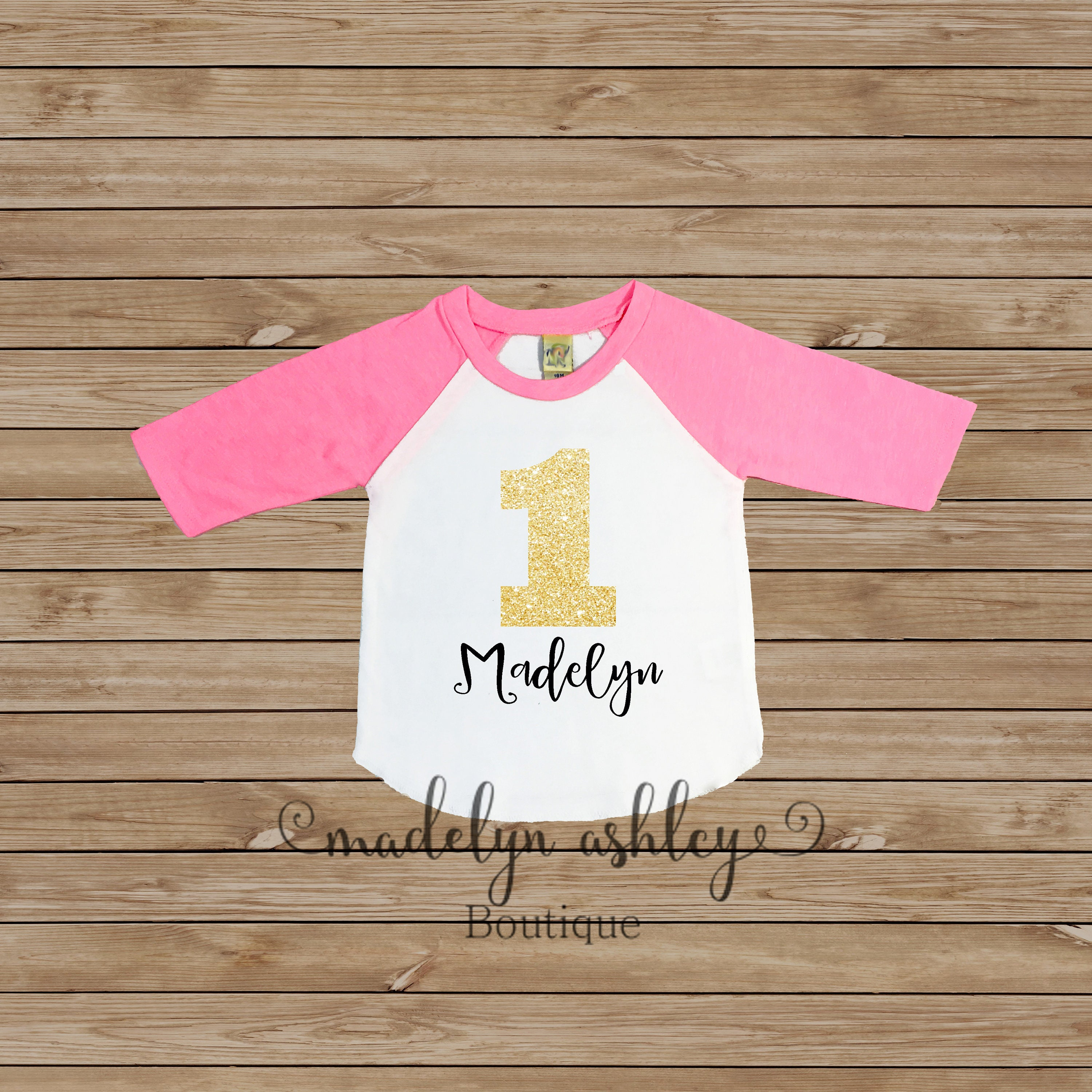 Girls Birthday Shirt Personalized First Baseball For