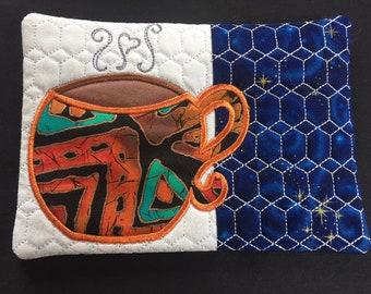 Night Time Coffe Mug Rug, Coaster
