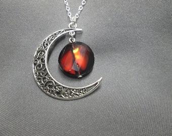 Fiery Moon Necklace