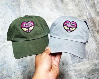 Peachy girl Dad Hat strap back