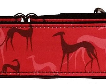 "Simply Hounds Red  2""  Martingale Collar-"