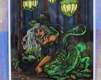 "Swamp Witch (8.5"" x 11"" Print)"