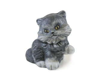 Long Haired Cat Urn - Metallic, Glazed or Personalized