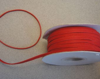 1 m red suede cord