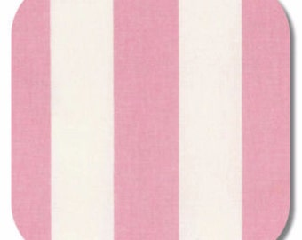 Premier Prints Canopy Stripe in Baby Pink 7 oz Cotton Home Decor fabric, 1 yard