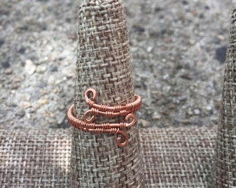 Copper Wire Weave Ring