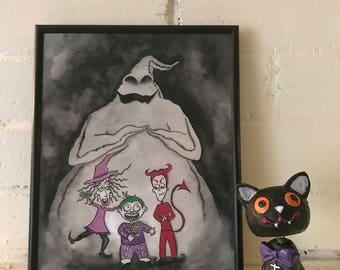 Nightmare Before Christmas Tribute Art