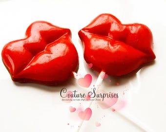 X 6 Red Chocolate Lips