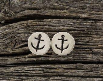 Anchor Mini Stud Earrings