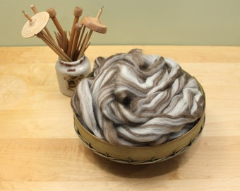Finnish Wool - Humbug - Undyed Roving for Spinning or Felting (8oz)