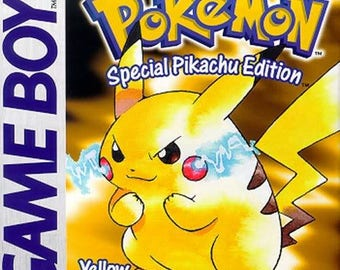 Pokemon Yellow Special Pikachu Edition Gameboy Great Condition Fast Shipping Official Nintendo Product