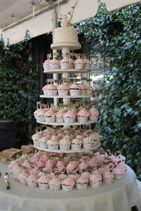 Cupcake Stand Cupcake Tower Wood Cupcake Stand Round