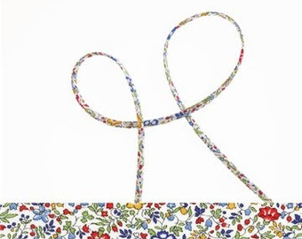 Katie and Millie A Liberty cord, bracelet cord, jewellery making supplies, 5mm cotton cord for crafting or gift wrapping