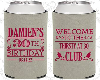 30th Birthday, 30th Birthday Favors, Personalized Birthday Favors, Thirsty and Thirty, Thirsty and 30, Birthday Party Favors (20016)