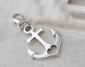 Pendant anchor heart silver plated