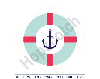 Lifesaver - Svg, Dxf, Eps, Png, Jpg, Vector Art, Clipart, Cut File