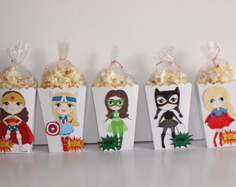 SuperHero Girls Popcorn Party favors