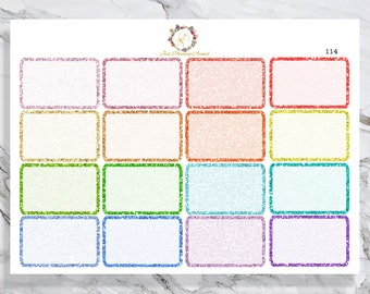 Glitter Half Box, Pastels, Lights, Stickers for ECLP , Decorative Stickers, Planner Stickers, functional stickers