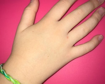 Blue,White, and Green Twist Bracelet