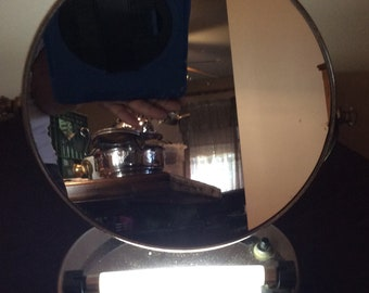 Vintage make up mirror with light