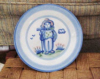 M.A.Handley Pottery Farmer Plate-handpainted- Final SALE